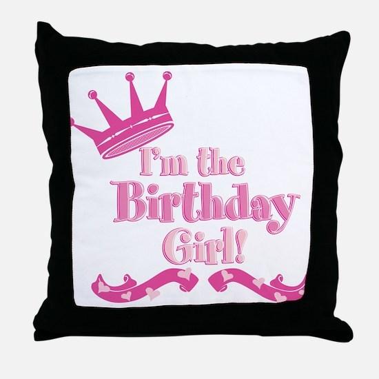 Birthday Girl 2.png Throw Pillow