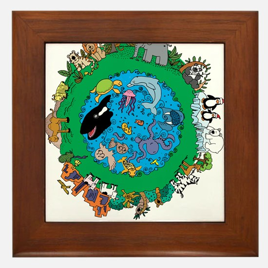 Be Kind To Animals.png Framed Tile