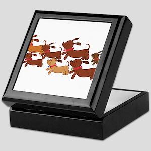 Running Weiner Dogs.png Keepsake Box