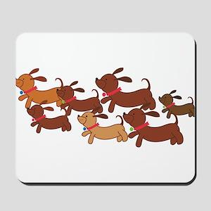 Running Weiner Dogs Mousepad