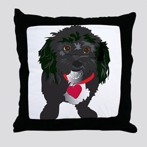 BLACKDOG Throw Pillow