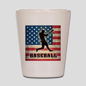 Grunge USA Baseball Shot Glass