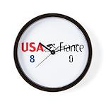 USA 8 France 0 Wall Clock