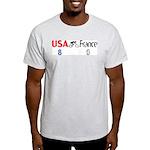 USA 8 France 0 Ash Grey T-Shirt
