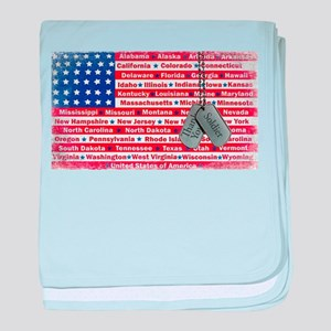 Thank You Soldier Dog Tags baby blanket