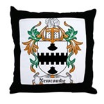 Newcombe Coat of Arms Throw Pillow