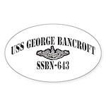 USS GEORGE BANCROFT Sticker (Oval)