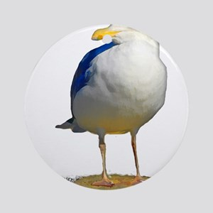 Sea Gull Has His Eye on You Ornament (Round)