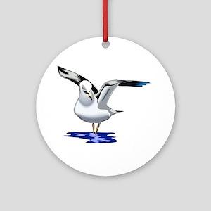 Seagull Liftoff Ornament (Round)