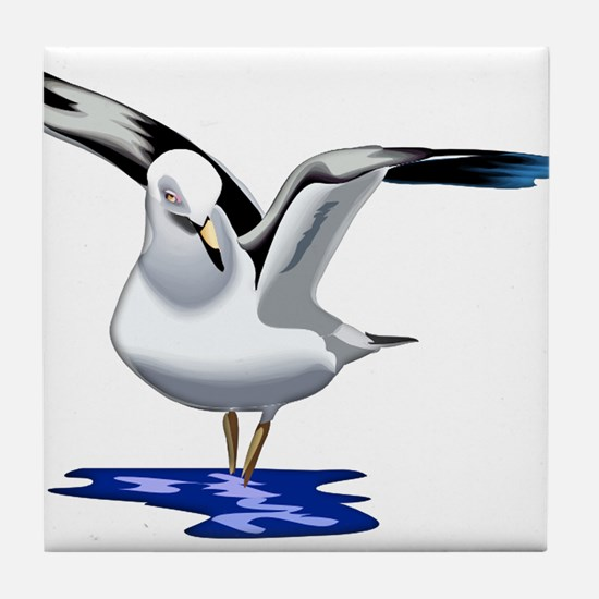 Seagull Liftoff Tile Coaster