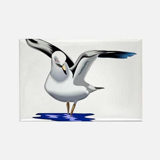 Seagull Liftoff Rectangle Magnet