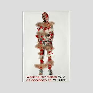 Fur Is Murder Rectangle Magnet