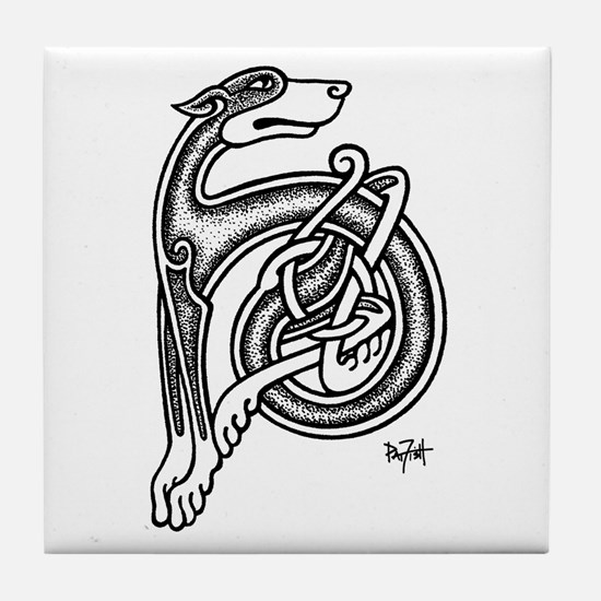 Celtic Sighthound Tile Coaster