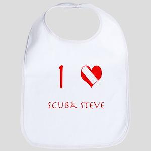 I Love Scuba Steve (red) Bib