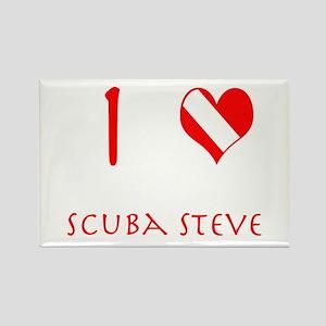 I Love Scuba Steve (red) Rectangle Magnet