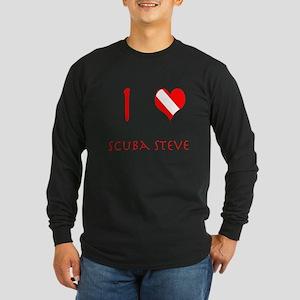 I Love Scuba Steve (red) Long Sleeve Dark T-Shirt