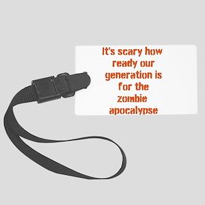 zombie apocalypse Large Luggage Tag