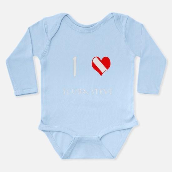 I Love Scuba Steve (white) Long Sleeve Infant Body