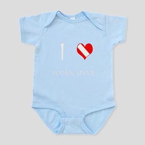 I Love Scuba Steve (white) Infant Bodysuit