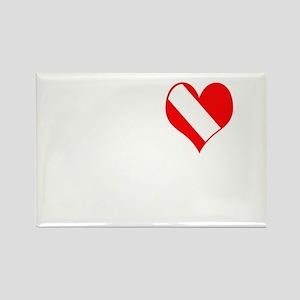 I Love Scuba Steve (white) Rectangle Magnet