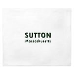 Sutton Massachusetts Sans Serif King Duvet