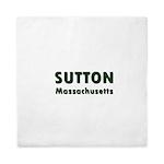 Sutton Massachusetts Sans Serif Queen Duvet