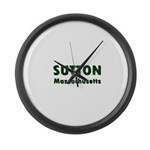 Sutton Massachusetts Sans Serif Large Wall Clock