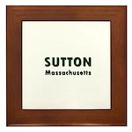 Sutton Massachusetts Sans Serif Framed Tile