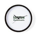 Sutton Massachusetts Sans Serif Wall Clock