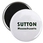 Sutton Massachusetts Sans Serif Magnet