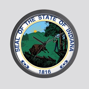 Indiana State Seal Wall Clock
