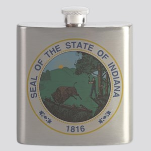 Indiana State Seal Flask