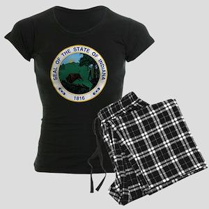 Indiana State Seal Women's Dark Pajamas
