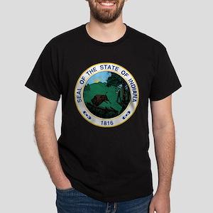 Indiana State Seal Dark T-Shirt