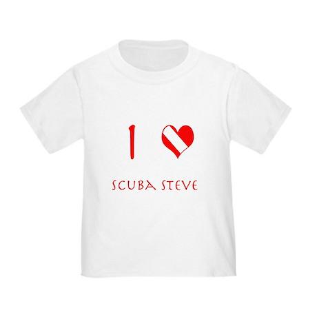 I Love Scuba Steve (red) Toddler T-Shirt