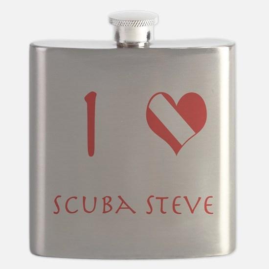 I Love Scuba Steve (red) Flask