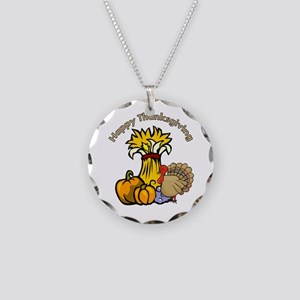 Happy Thanksgiving Pumpki... Necklace Circle Charm