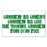 Garden is great Sticker (Rectangle)
