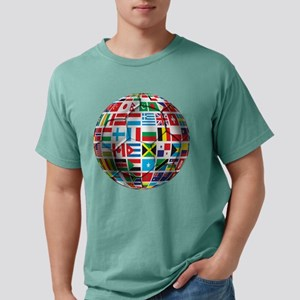 World Soccer Ball Mens Comfort Colors Shirt
