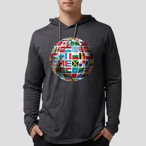 World Soccer Ball Mens Hooded Shirt