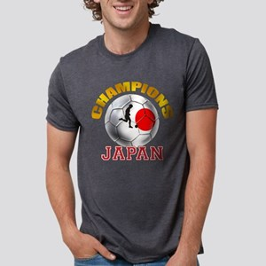 Japanese Soccer Mens Tri-blend T-Shirt