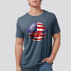 US Womens Soccer Mens Tri-blend T-Shirt
