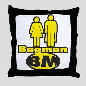 Bagman Throw Pillow