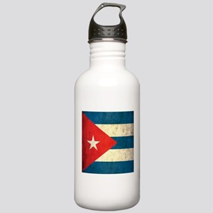 Grunge Cuba Flag Stainless Water Bottle 1.0L