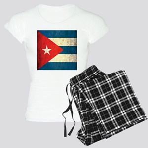 Grunge Cuba Flag Women's Light Pajamas