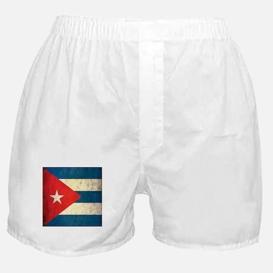 Grunge Cuba Flag Boxer Shorts