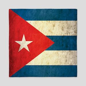 Grunge Cuba Flag Queen Duvet