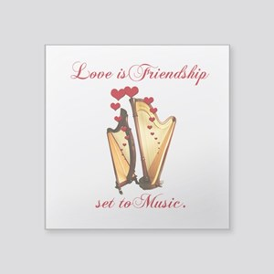 """Harp Love Square Sticker 3"""" x 3"""""""