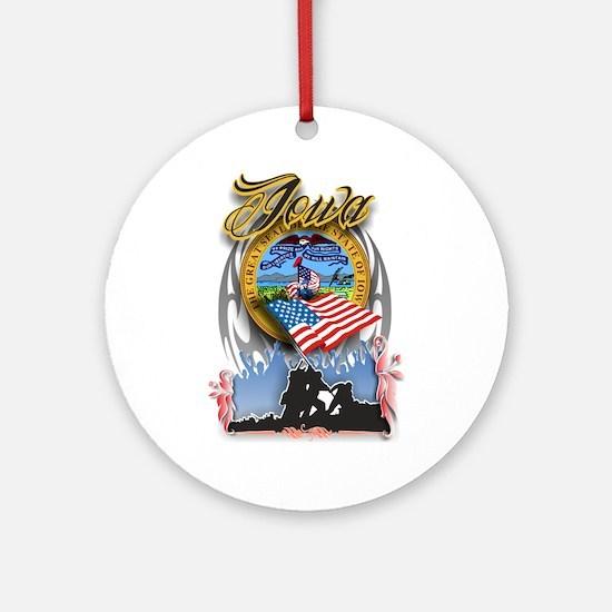 Iowa Ornament (Round)