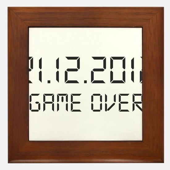 game over - 21.12.2012 Framed Tile